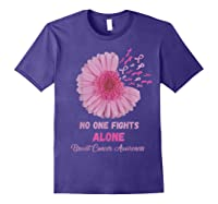 Breast Cancer Awareness Month Pink Ribbons Flower T T Shirt Purple