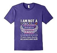 I Am Not A Widow I Am The Wife Of A Guardian Angel Butterfly Shirts Purple