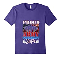 Proud Army National Guard Sister Mothers Day Shirt T-shirt Purple