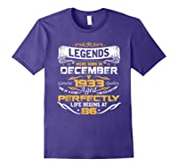 Awesome Legends Born In December 1933 86th Birthday T-shirt Purple