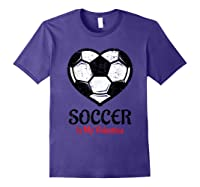 Soccer Is My Valentine T Shirt Galentines Day Tee Purple