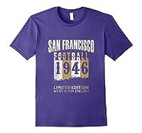 San Francisco 1946 Sf Skyline Throwback Football Shirts Purple