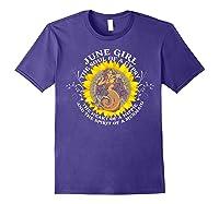 June Girl The Soul Of A Mermaid Tshirt Birthday Gifts Purple