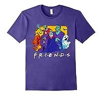 Friends Halloween Horror T Shirt Purple