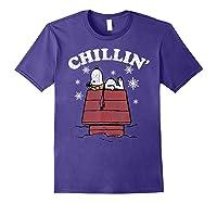 Peanuts Snoopy Holiday Chillin Shirts Purple