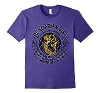 Hungarian Girl The Soul Of A Mermaid Great T Shirt Purple