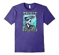 Funny Trout Fishing, Fish Fisherman Gifts Baseball Shirts Purple