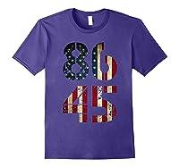 8645 Impeach Trump American Flag T Shirt Purple