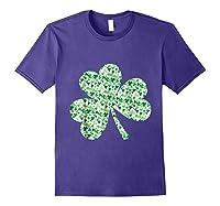 Shamrock T Shirt Saint Patricks Day Purple