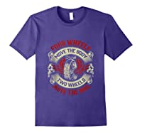 Biker Dad Gift Fathers Day Motorcycles Two Wheels Move Soul Tank Top Shirts Purple