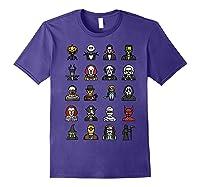 Friends Cartoon Halloween Character Scary Horror Movies T Shirt Purple