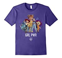 Disney Pixar Toy Story 4 Grl Pwr Distressed T-shirt Purple