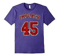Anti Trump Red And Blue Retro Sports Style Impeach 45 T Shirt Purple