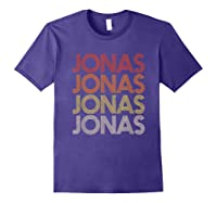 Jonas First Given Name Pride Vintage Style T Shirt Purple