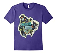 Road Trip 2019 Family Summer Vacation Hippie Van Surf Gift Zip Shirts Purple