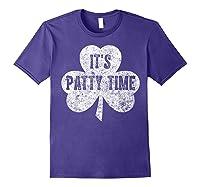 It S Patty Time T Shirt Saint Patrick Day Gift Shirt Purple