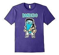 Feel Ink Bandido Bandit Lucha Libre Mexican Pro Wrestler Premium T Shirt Purple