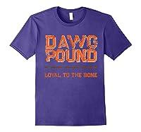 Dawg Pound Shirt Loyal Bone T-shirt Purple