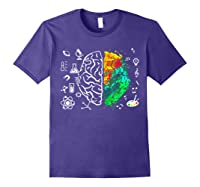 Colorful Brain Science And Art Love Science Art Gifts T Shirt Purple