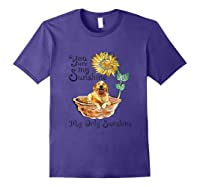 You Are My Sunshine Golden Retriever T Shirt, Sunflower And Purple
