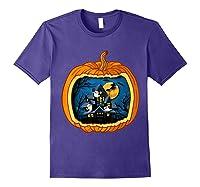 Funny Pumpkin Vintage Halloween Pumpkin Costume Shirts Purple