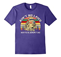 Vintage Ain T No Laws When You Re Drinking Claws Funny Shirt Purple