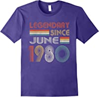 Legendary Since June 1980 41st Birthday 41 Years Old T-shirt Purple