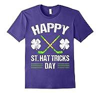 Saint Hattrick S Hockey St Patrick S Day Shamrock T Shirt Purple