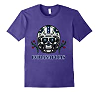 Indianapolis Football Helmet Sugar Skull Day Of The Dead T Shirt Purple