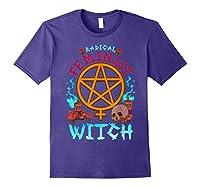 Radical Feminist Witch Pentagram Wiccan Resist Impeach T Shirt Purple