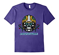 Jacksonville Football Helmet Sugar Skull Day Of The Dead T Shirt Purple