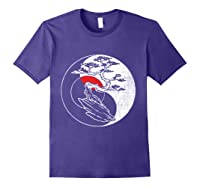 Spirit Soul Yin Yang Bonsai Tree Meditation Shirts Purple