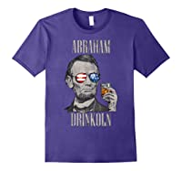 4th Of July Shirts For Abraham Drinkoln Abe Lincoln Tee T Shirt Purple