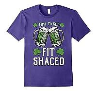 Shaced Tshirt Saint Patrick S Day Gift Shaced Shirt Purple