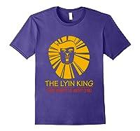 The Lyin King Impeach Anti Trump T Shirt Purple