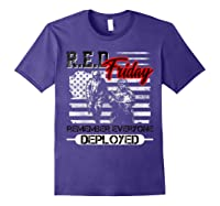 Red Friday Remember Everyone Deployed Shirts Purple