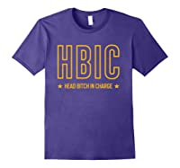 Military Slang Head Bitch In Charge Shirts Purple