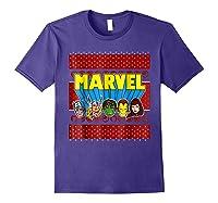 Avengers Classic Ugly Christmas Sweater Shirts Purple