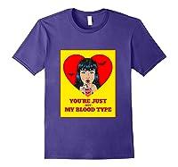 Halloween Bloody Not My Blood Type Vampire Graphic Shirts Purple