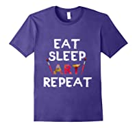 Eat Sleep Art Repeat T Shirt Funny Artist Creative Gift T Shirt Purple