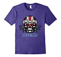 Buffalo Football Helmet Sugar Skull Day Of The Dead T Shirt Purple