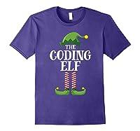 Coding Elf Matching Family Group Christmas Party Pajama Shirts Purple
