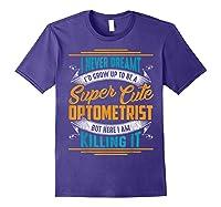 Optometry Optometrist Shirts Purple