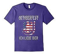 German Eagle Deutschland Us Flag Oktoberfest Shirts Purple