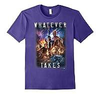 Marvel Avengers Endgame Movie Poster Whatever It Takes T-shirt Purple