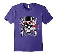 Guns N' Roses Top Hat Skull T-shirt Purple