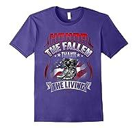 Memorial Day Honor The Fallen Thank The Living Veteran Shirts Purple