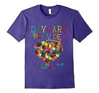 Daycare Provider Tshirt Appreciation Gift Childcare Tea T Shirt Purple