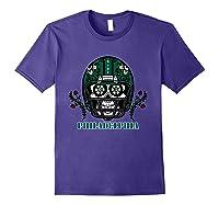 Philadelphia Football Helmet Sugar Skull Day Of The Dead T Shirt Purple