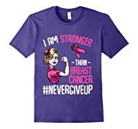 Breast Cancer Awareness Month Shirt For I Am Stronger T Shirt Purple